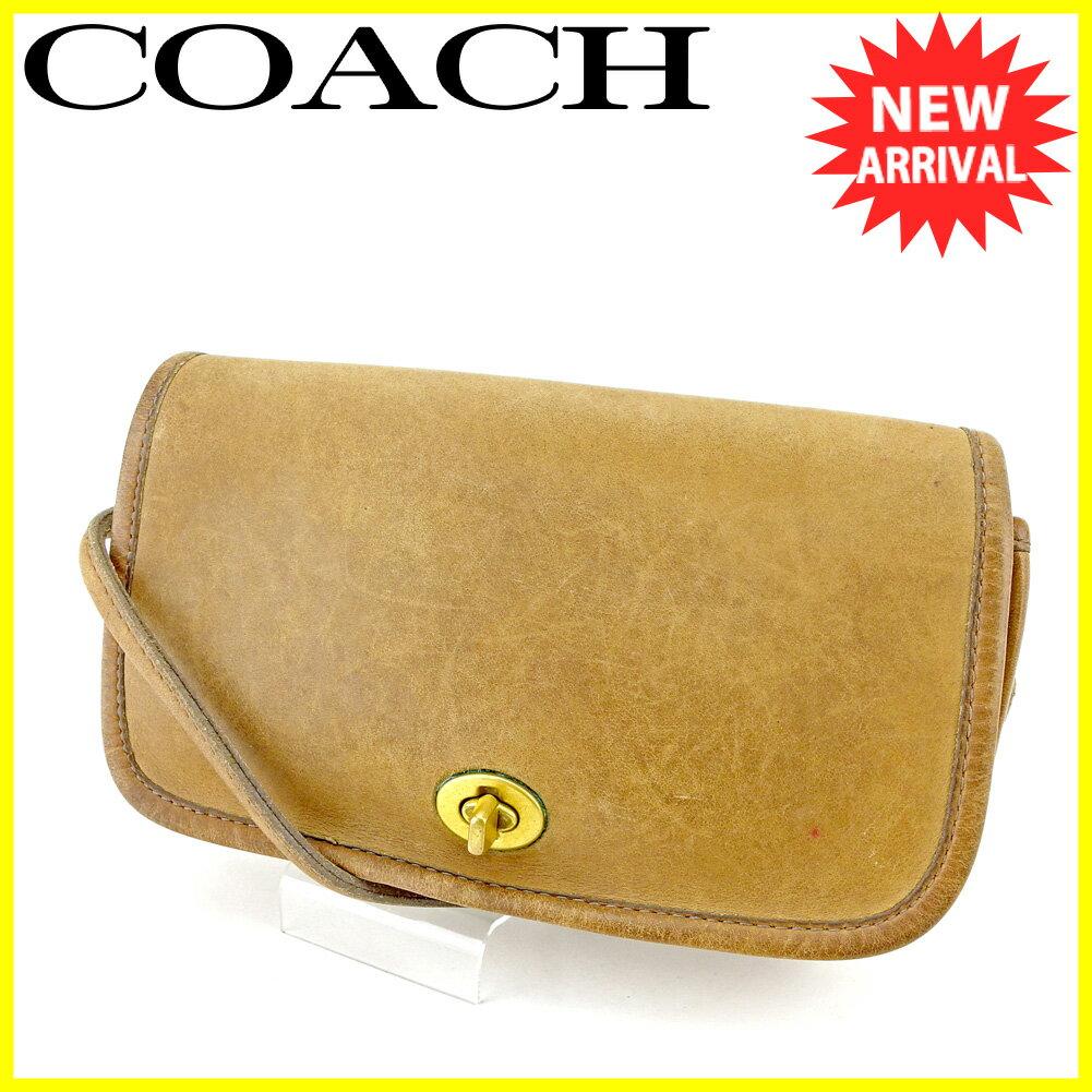 【中古】 コーチ ショルダーバッグ 斜めがけショルダー バッグ Coach ブラウン ゴールド T5428s .
