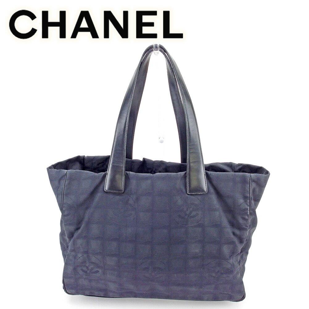 【中古】 シャネル トートバッグ ショルダーバッグ Chanel ブラック 黒 T5838s