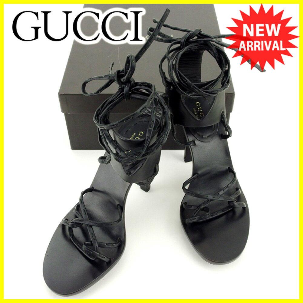 【中古】 グッチ サンダル 靴 サンダル Gucci ネイビー T6215s