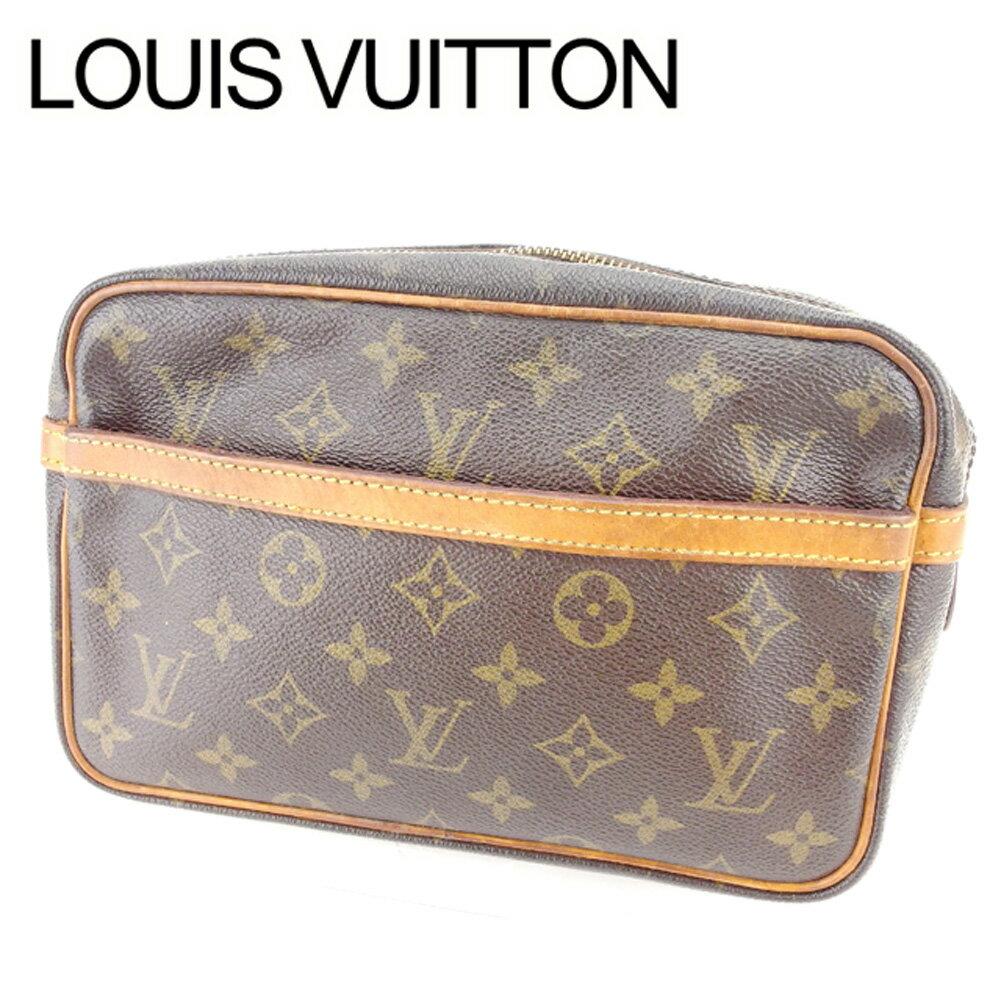 【お買い物マラソン】 【中古】 ルイ ヴィトン クラッチバッグ セカンドバッグ Louis Vuitton ブラウン ベージュ ゴールド T6410s