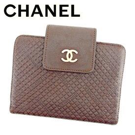 18037d66c37b 【中古】 シャネル Chanel 手帳カバー ブラウン ココマーク レディース メンズ 可 T6443s . .