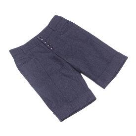 【中古】 ジルスチュアート JILL STUART パンツ 裾折り返し レディース ♯2サイズ グレー 灰色 ブラック シルバー ウール毛100%(裏地)ポリエステル100% L1986
