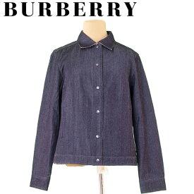 【中古】 バーバリー Burberry ジャケット シングルボタン ネイビー系 ♯42サイズ デニム レディース T5132s .