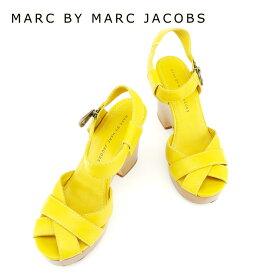 【スーパーSALE】 【20%オフ】 【中古】 マークバイマークジェイコブス MARC BY MARC JACOBS サンダル シューズ 靴 レディース #38サイズ イエロー レザー 【マークバイマークジェイコブス】 T6910