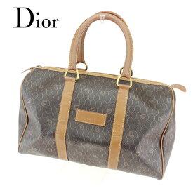 【中古】 ディオール Dior ボストンバッグ 旅行用バッグ レディース メンズ ブラウン ブラック クリスマス プレゼント バック ブランド 人気 収納 在庫一掃 1点物 兼用 男性 女性 良品 T7636 .