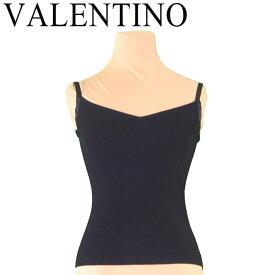 【スーパーセール】 【20%オフ】 【中古】 ヴァレンティノ VALENTINO キャミソール インナー レディース ♯Sサイズ ブラック ヴィスコースVI 83%ポリエステルPL 13% T7115