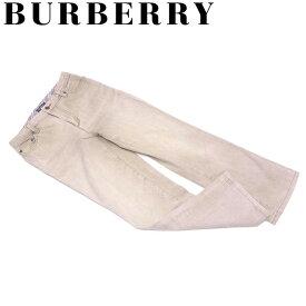 バーバリー BURBERRY パンツ ストレート レディース ♯36サイズ カラーデニム ベージュ コットン綿98%ポリウレタン2% 人気 セール 【中古】 T7222 .