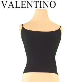 【スーパーセール】 【20%オフ】 【中古】 ヴァレンティノ VALENTINO キャミソール インナー レディース ♯Sサイズ ブラック ウールWO 80%ナイロンNY 20% T7414