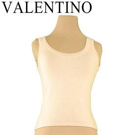 【中古】 ヴァレンティノ Valentino タンクトップ インナー ベージュ ♯Sサイズ ラウンドネック レディース T7415s .