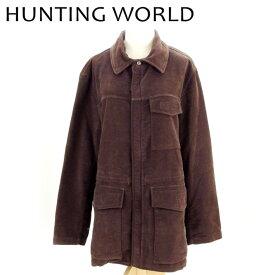 ハンティングワールド HUNTING WORLD コート ジャケット メンズ ♯Mサイズ ワークポケット ブラウン コットン綿100% 人気 セール 【中古】 C3294 .