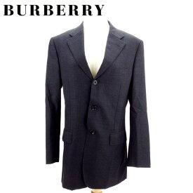 【中古】 バーバリー ブラックレーベル BURBERRY BLACK LABEL ジャケット 3つボタン メンズ テーラード ブラック パープル 羊毛100%(胴裏)キュプラ・ポリエステル(袖裏)キュプラ I504