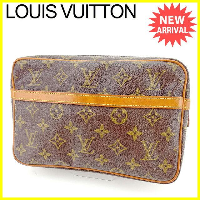 【お買い物マラソン】 【中古】 ルイ ヴィトン クラッチバッグ Louis Vuitton ブラウン E1150s