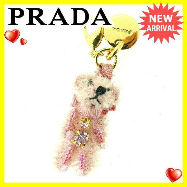 【中古】 プラダ Prada チャーム ピンク×ゴールド レディース C2307s .