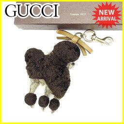 古馳鑰匙圈迷人Gucci淺駝色×棕色×黄金L997s
