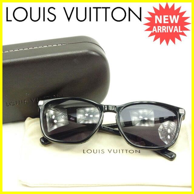 ルイヴィトン LOUIS VUITTON サングラス ブラック×シルバー 美品 【中古】 Y5309