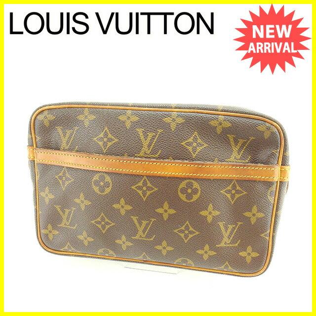 【お買い物マラソン】 【中古】 ルイ ヴィトン セカンドバッグ クラッチバッグ Louis Vuitton ブラウン P300s