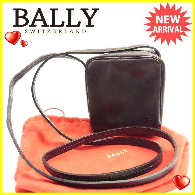 【中古】 バリー Bally ショルダーバッグ 斜めがけショルダー レディース パープル レザー 人気 T1294s .