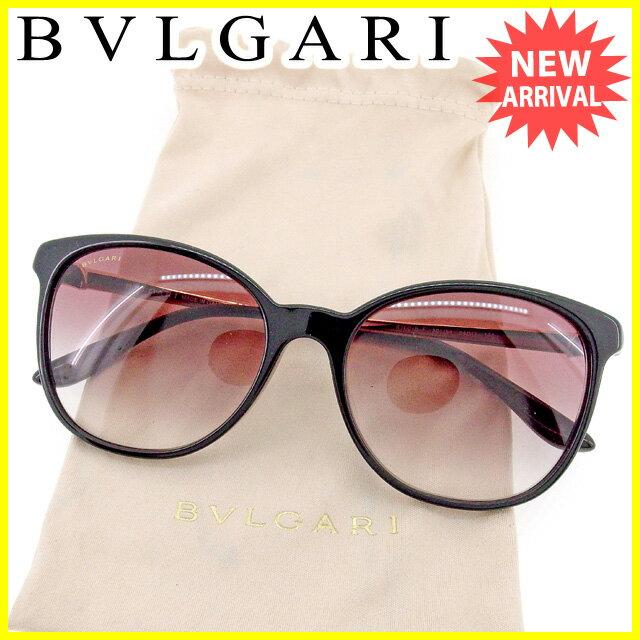 ブルガリ BVLGARI サングラス アイウエア レディース メンズ 可 ロゴ ゴールド×ブラウン 美品 セール 【中古】 T1510