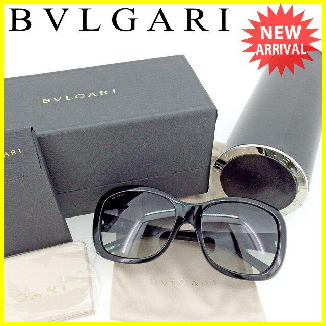 ブルガリ BVLGARI サングラス アイウエア レディース メンズ 可 ブルガリ ブルガリ ブラック×シルバー 人気 セール 【中古】 T1515