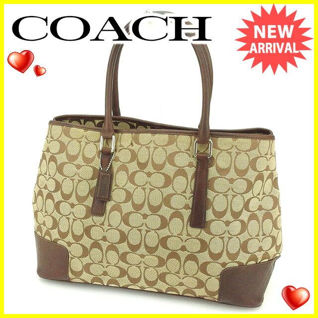 【中古】 コーチ トートバッグ ショルダーバッグ ハンドバッグ Coach ブラウン×オレンジ N490s
