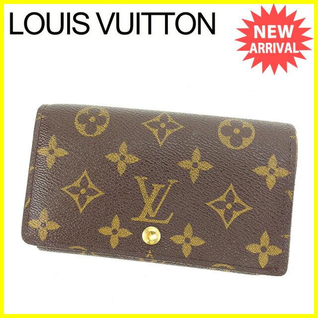 【中古】 ルイ ヴィトン Louis Vuitton L字ファスナー財布 二つ折り財布 メンズ可 ポルトモネビエトレゾール モノグラム ブラウン モノグラムキャンバス 人気 K425