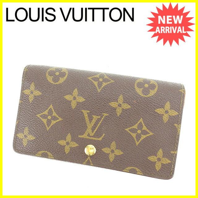 【中古】 ルイ ヴィトン Louis Vuitton L字ファスナー財布 二つ折り財布 メンズ可 ポルトモネビエトレゾール モノグラム ブラウン モノグラムキャンバス 人気 K428
