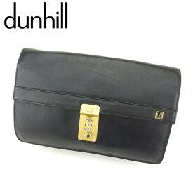 【中古】 ダンヒル dunhill クラッチバッグ セカンドバッグ バッグ メンズ コンフィデンシャル ブラック ゴールド レザー 人気 セール H618