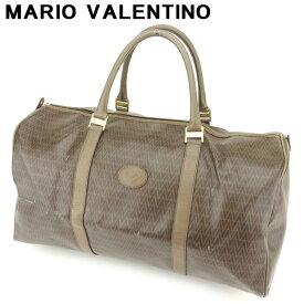 【中古】 マリオ ヴァレンティノ ボストンバッグ トラベルバッグ 旅行用バッグ MVマーク ブラウン ゴールド PVC×レザー MARIO VALENTINO バック 収納 旅行バッグ 人気 贈り物 迅速発送 在庫処分 1点物 H621 ブランド