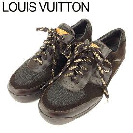 【中古】 ルイヴィトン Louis Vuitton スニーカー シューズ 靴 メンズ ♯6 ローカット 異素材コンビ ブラウン ベージュ スエード×レザー×キャンバス 人気 セール T8669