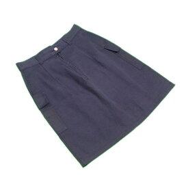 【中古】 フェンディジーンズ Fendi スカート ブラック×ゴールド ♯28インチ ワークポケット レディース A1099s .