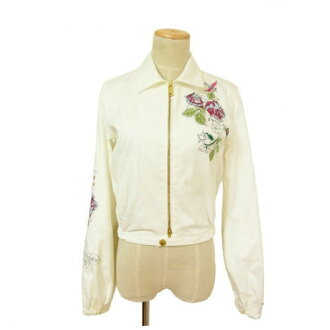 (Beauty products, quick delivery) (Correspondence) dsquared /DSQUARED2 / A273 jacket and floral embroidery / white / cotton (reference price: 89,000 yen)