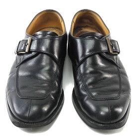 【中古】 バーバリー BURBERRY ローファー ローファー 靴 メンズ ♯24 ラウンドトゥ ブラック×アンティークゴールド A798