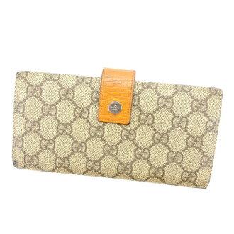 f26b54952645 Gucci GUCCI long wallet W hook wallet Lady's GG plus beige X brown X orange  PVC X leather C2109