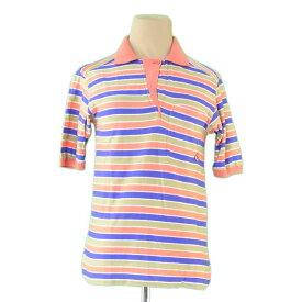 【中古】 ディオール スポーツ Dior Sports ポロシャツ カットソー レディース オレンジ×パープル系 綿 85%アクリル 15%(別布)綿 50アクリル 45%ナイロン 5% C2513