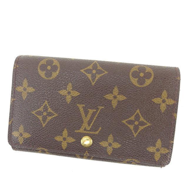 【中古】 ルイ ヴィトン Louis Vuitton L字ファスナー財布 財布 二つ折り財布 財布 ブラウン系 ポルトモネ・ビエトレゾール モノグラム レディース メンズ 可 C2789s .
