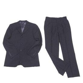 【中古】 バーバリー ブラックレーベル BURBERRY BLACK LABEL スーツ センタープレスパンツ メンズ テーラージャケット ブラック C3036