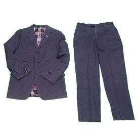 【中古】 バーバリー ブラックレーベル BURBERRY BLACK LABEL スーツ センタープレスパンツ メンズ テーラージャケット ブラック C 95%PU 5%(胴裏)PE&CP(袖裏)CP(パンツ裏地)PE C3054