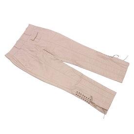 【中古】 ルイ ヴィトン Louis Vuitton パンツ クロップド レディース ♯34サイズ ベージュ コットン99%ナイロン1% C3125 .