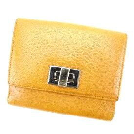 【中古】 グッチ GUCCI Wホック財布 二つ折り財布 キャメル×ブラックシルバー レディース メンズ ユニセックス レザー サイフ 小物 ブランド 人気 贈り物 迅速発送 1点物 兼用 男性 女性 良品 D1556
