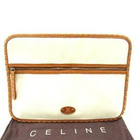 【中古】 セリーヌ Celine ポーチ ホワイト レディース D188s .
