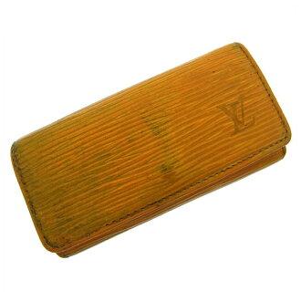 Louis Vuitton Louis Vuitton key case / men's possible / ミュルティクレ 4 Eppie M63829 yellow PVC X leather (reference list price 23,100 yen) D308