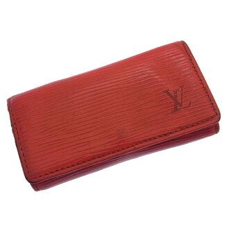 Louis Vuitton Louis Vuitton キーケースミュルティクレ 4 Eppie M6382E red leather (reference list price 26,250 yen) D597.