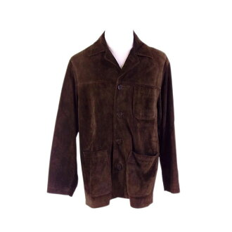 Men's size S single logo button brown (deep-discount popularity) F1278 with the coach COACH coat jacket pocket