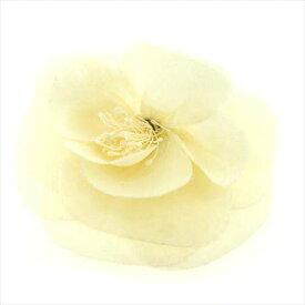 【中古】 シャネル CHANEL コサージュ ブローチ ファッションアクセサリー レディース ホワイト×ゴールド F819
