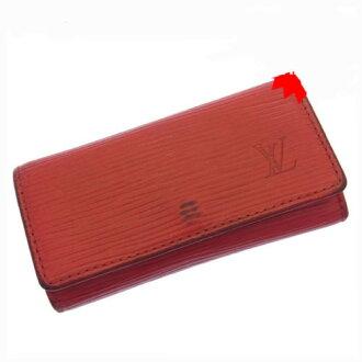Louis Vuitton Louis Vuitton キーケースミュルティクレ 4 Eppie M63827 red leather (reference list price 24,150 yen) G075.