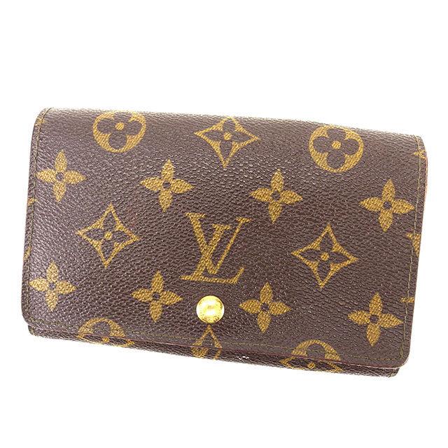 【中古】 ルイ ヴィトン Louis Vuitton L字ファスナー財布 財布 二つ折り財布 財布 ブラウン ポルトモネビエトレゾール モノグラム メンズ可 G1086s .