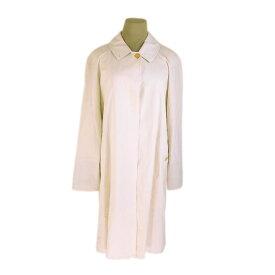 【中古】 バーバリー BURBERRY コート シングル ロング丈 レディース ♯9ARサイズ ホースボタン ライトベージュ×ゴールド G1214