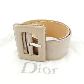 【中古】 クリスチャン・ディオール Christian Dior ベルト レディース ベージュ エナメルレザー G674 .