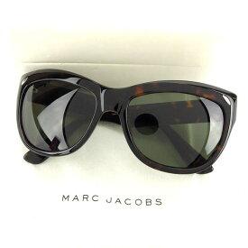 【中古】 マークジェイコブス MARC JACOBS サングラス サイドロゴ入り レディース バタフライ型 べっ甲柄 クリアブラック×ブラウン×シルバー プラスティック G733 .