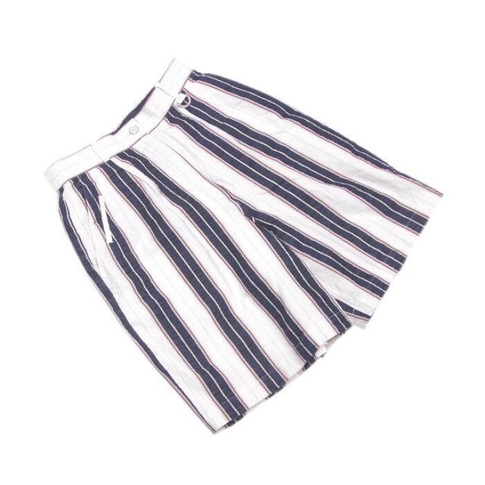 【中古】 クリスチャンディオールスポーツ Christian Dior Sports パンツ ハーフ レディース ♯Mサイズ ホワイト×ネイビー系 G946 .